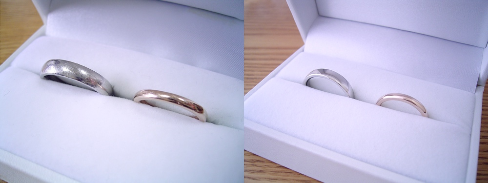 購入して頂いた婚約指輪や結婚指輪の新品仕上げ依頼時に、実はケースまで新品に交換しています