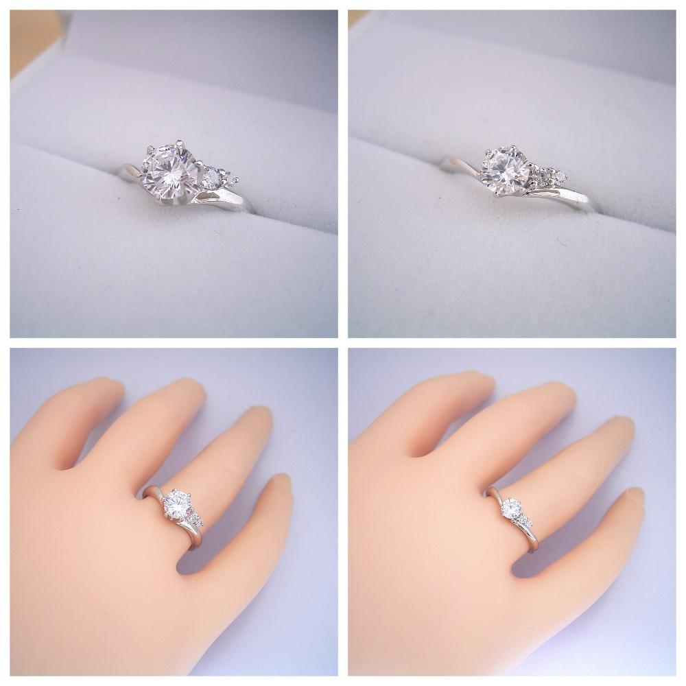 結構前から出来ていた新しい指輪がやっと登場しました!「2つのサイドメレダイヤが凄く可愛い、ずっと作りたかった婚約指輪」