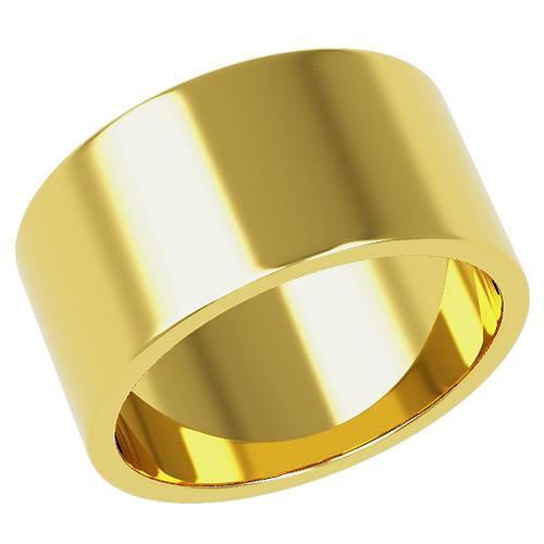 金の平打ちリングで8mm幅が人気らしい。